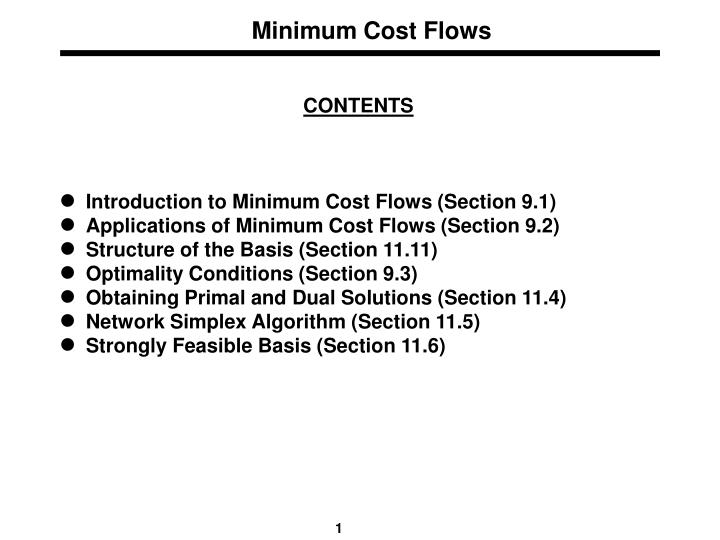minimum cost flows