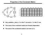 properties of the constraint matrix