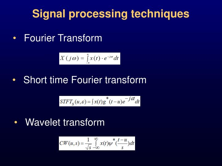 Signal processing techniques