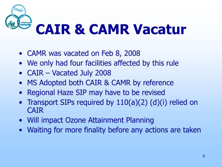 CAIR & CAMR Vacatur