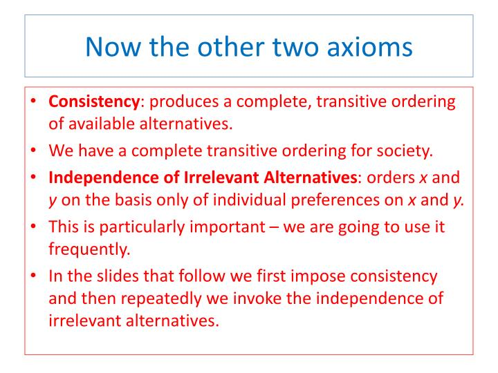 Now the other two axioms