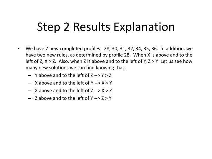 Step 2 Results Explanation