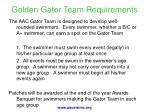 golden gator team requirements
