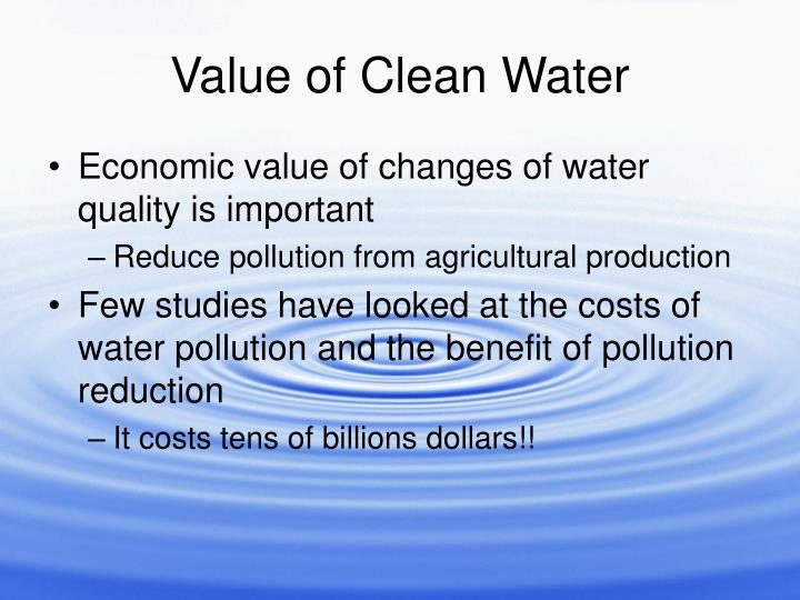 Value of Clean Water