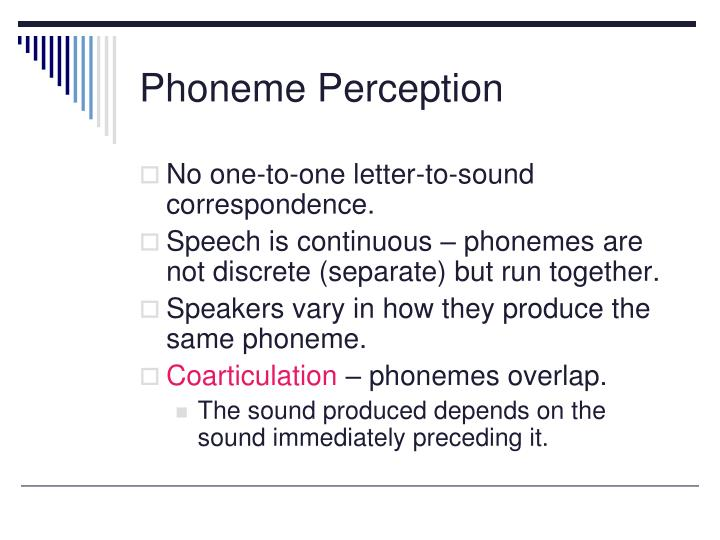 Phoneme Perception