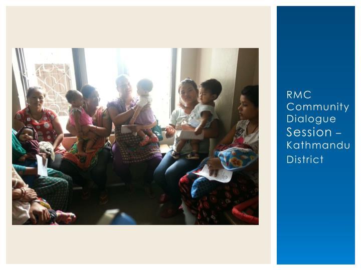 RMC Community Dialogue