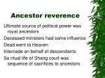 ancestor reverence