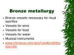 bronze metallurgy