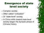 emergence of state level society