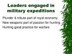leaders engaged in military expeditions