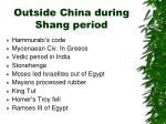 outside china during shang period