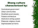 shang culture characterized by