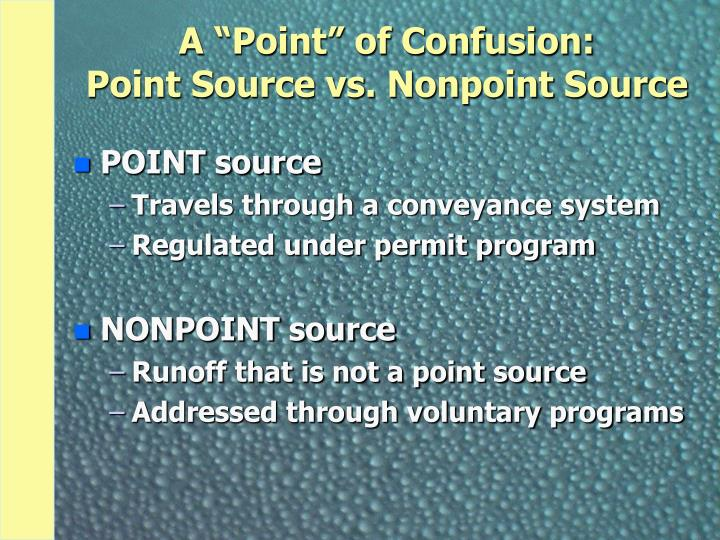 """A """"Point"""" of Confusion:"""