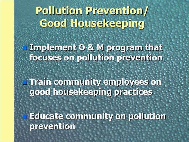 Pollution Prevention/