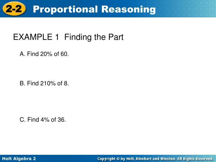 EXAMPLE 1  Finding the Part