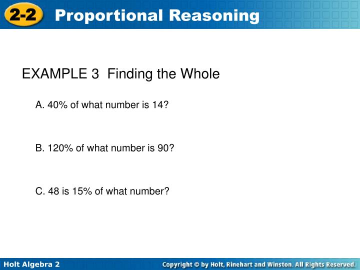 EXAMPLE 3  Finding the Whole