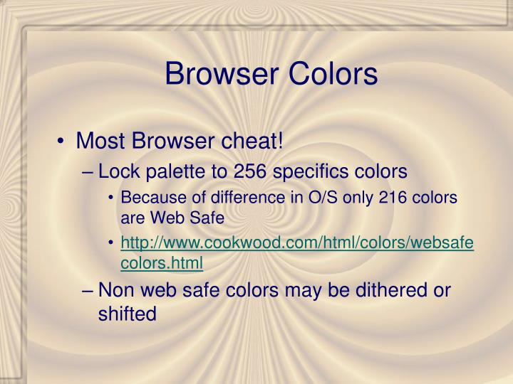 Browser Colors
