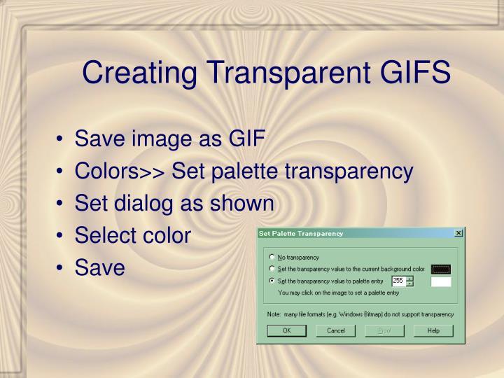 Creating Transparent GIFS