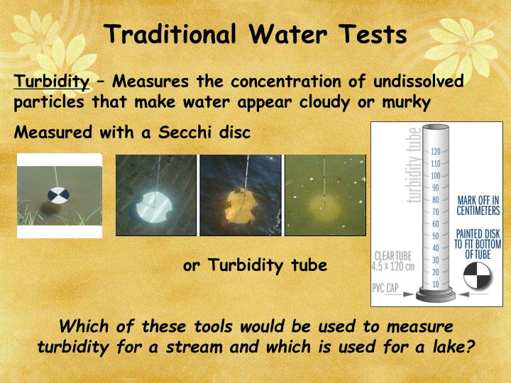 Traditional Water Tests