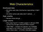web characteristics