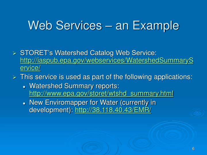 Web Services – an Example