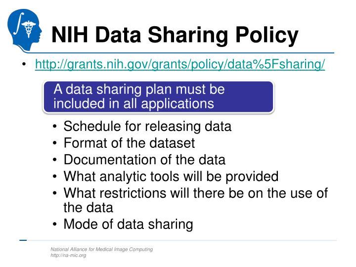 Nih data sharing policy