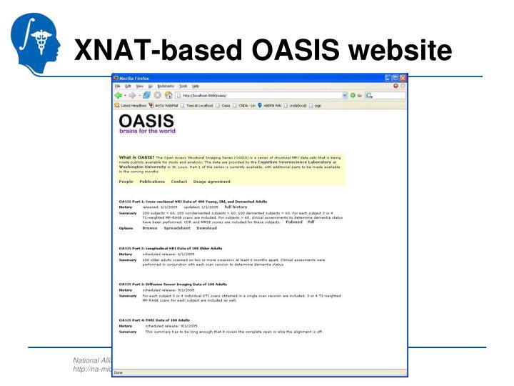 XNAT-based OASIS website