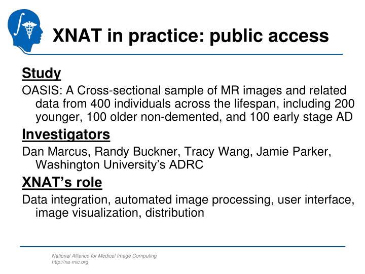 XNAT in practice: public access