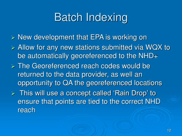 Batch Indexing
