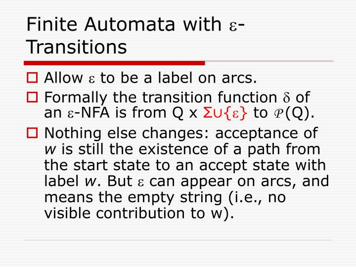 Finite Automata with