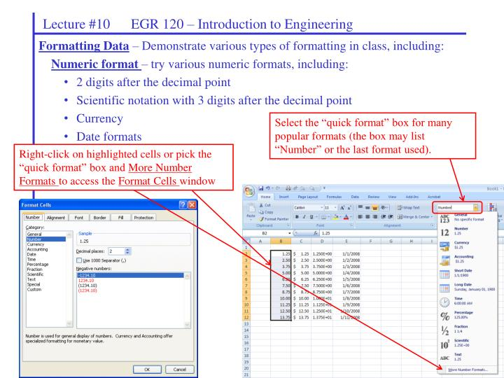 Lecture #10      EGR 120 – Introduction to Engineering