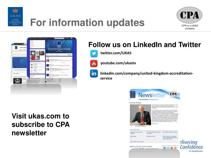 For information updates