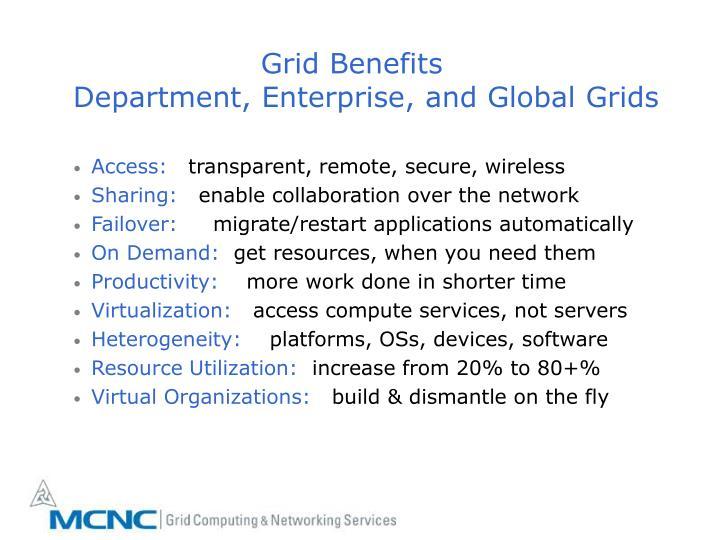 Grid Benefits
