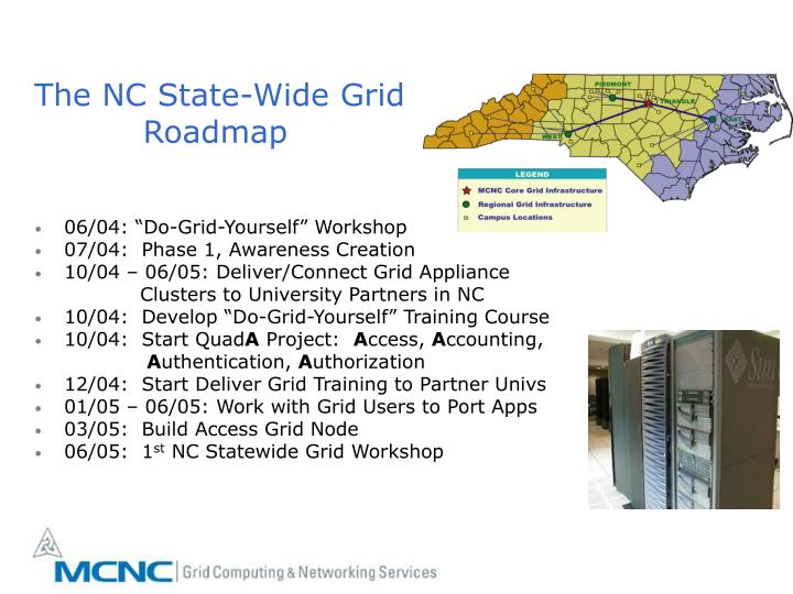 The NC State-Wide Grid