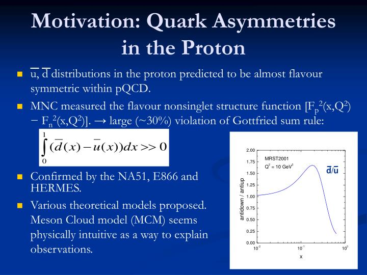 Motivation quark asymmetries in the proton