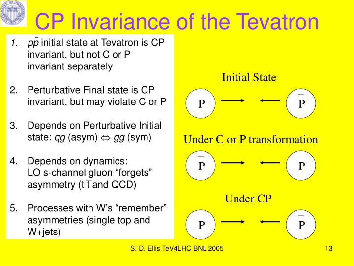 CP Invariance of the Tevatron