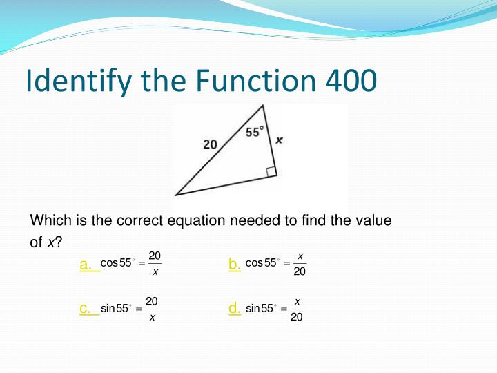 Identify the Function 400