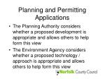 planning and permitting applications