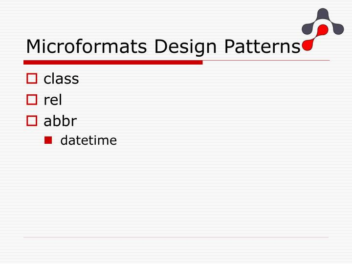 Microformats Design Patterns
