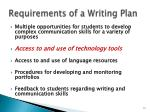requirements of a writing plan2