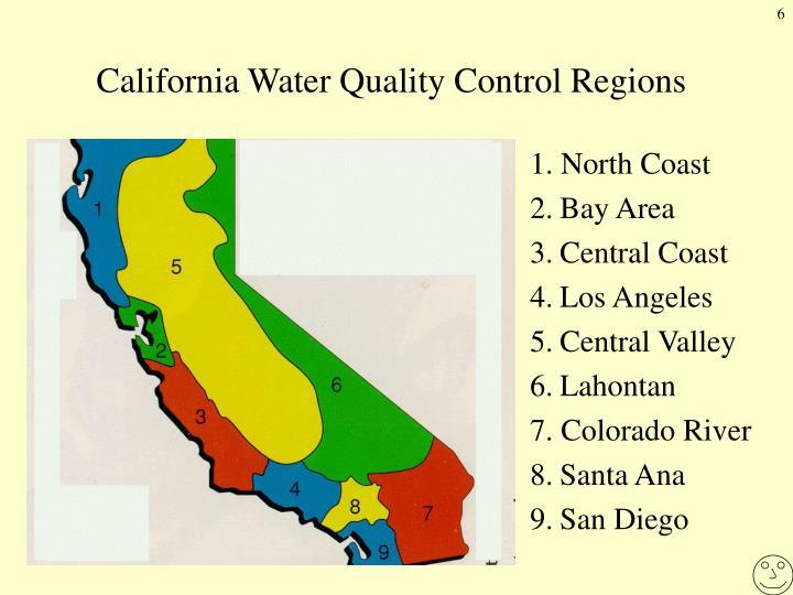 California Water Quality Control Regions