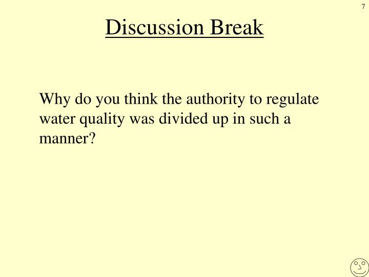 Discussion Break