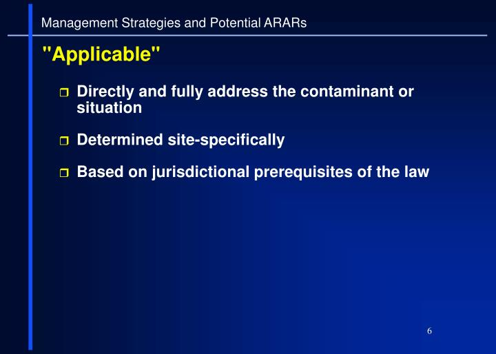 Directly and fully address the contaminant or situation