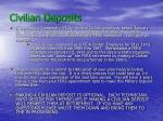 civilian deposits