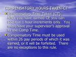 compensatory hours taken ct