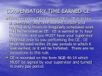 compensatory time earned ce