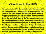 directions to the hro