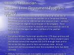 military technician student loan repayment program slrp