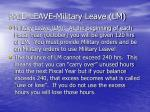 paid leave military leave lm