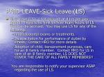paid leave sick leave ls